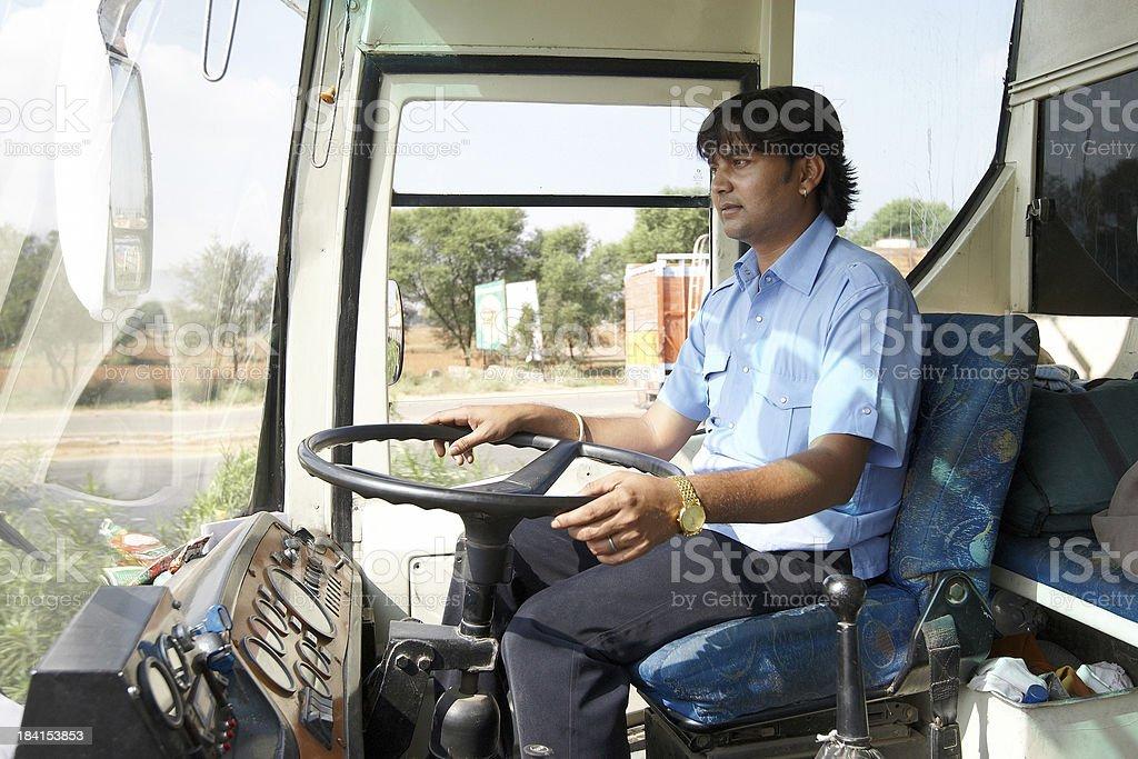 Asian bus driver