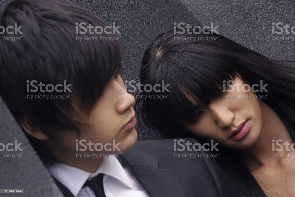 Asian business couple royalty-free stock photo