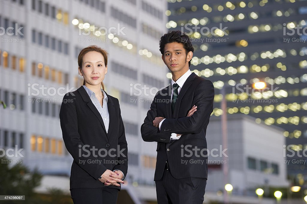 Asian Business Executives royalty-free stock photo