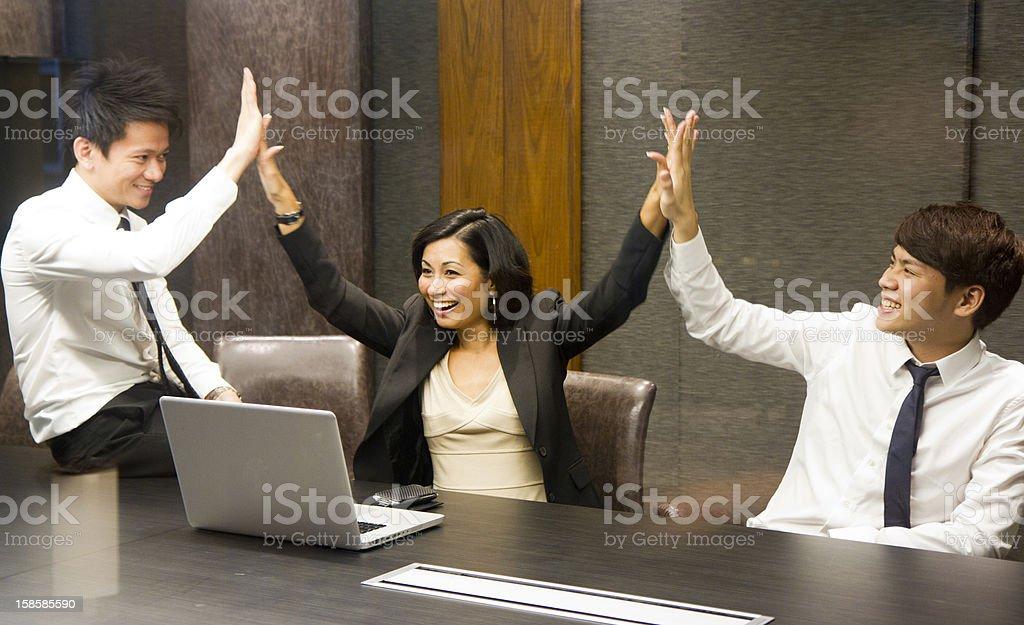 Asian business executives success stock photo