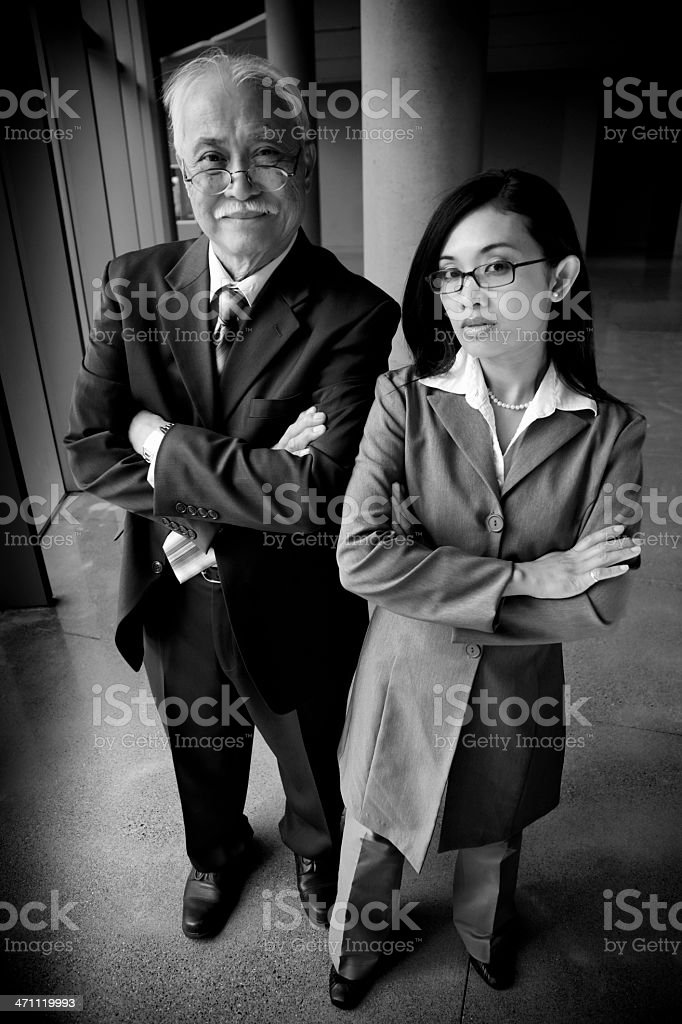 Asian Business Generations (Spy Cam Editing) royalty-free stock photo