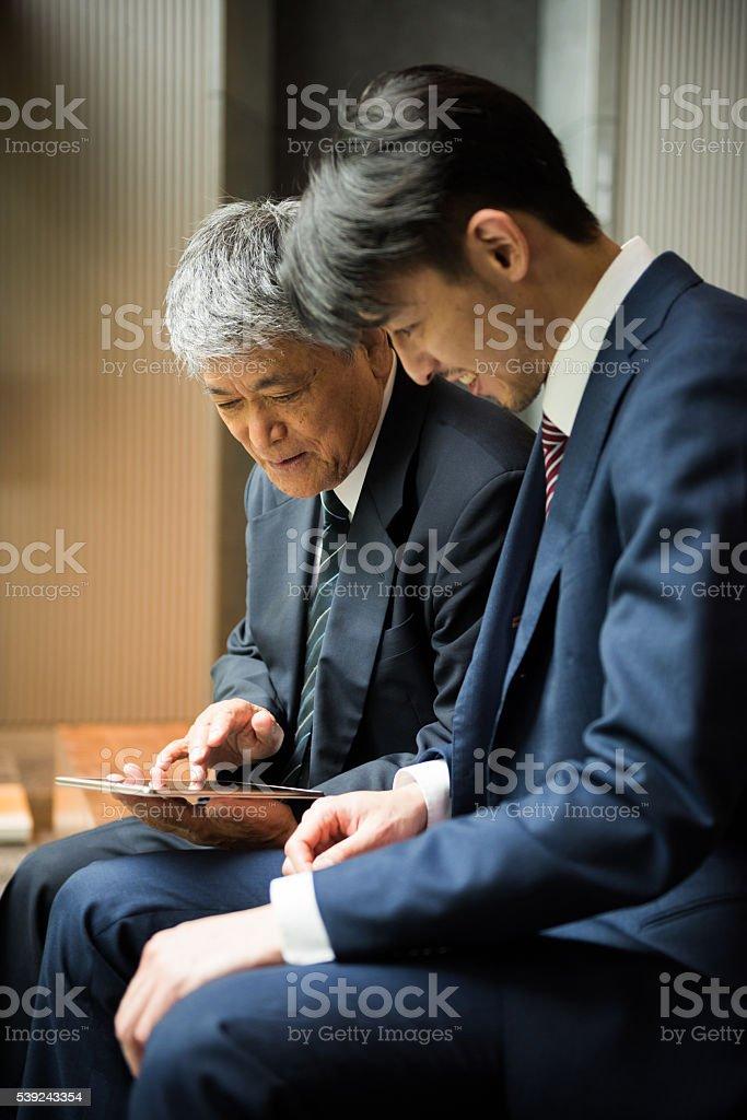 Reunião de negócios asiático foto royalty-free