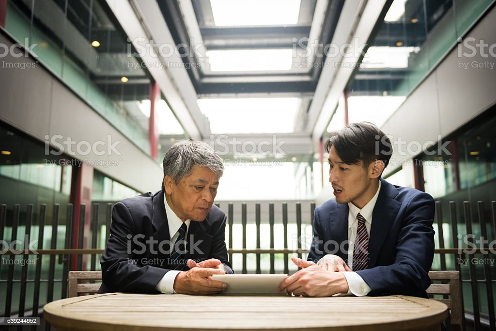 Asian business meeting royalty-free stock photo
