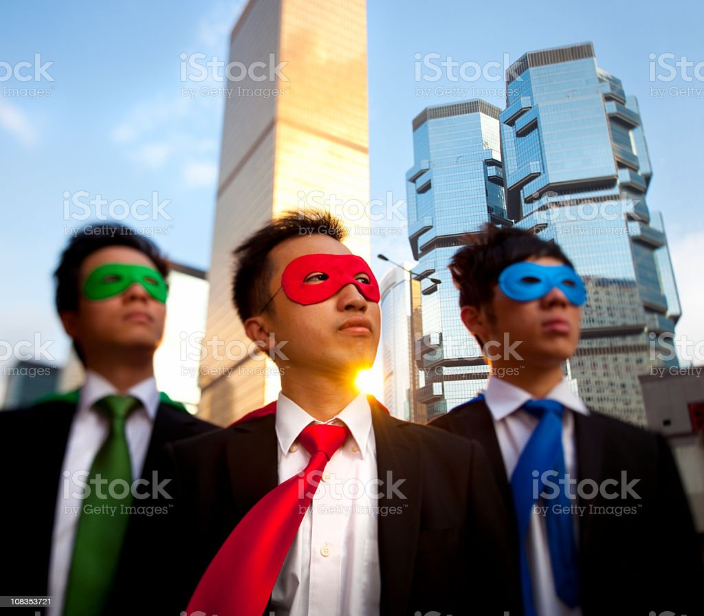 Asian Business Superheros royalty-free stock photo