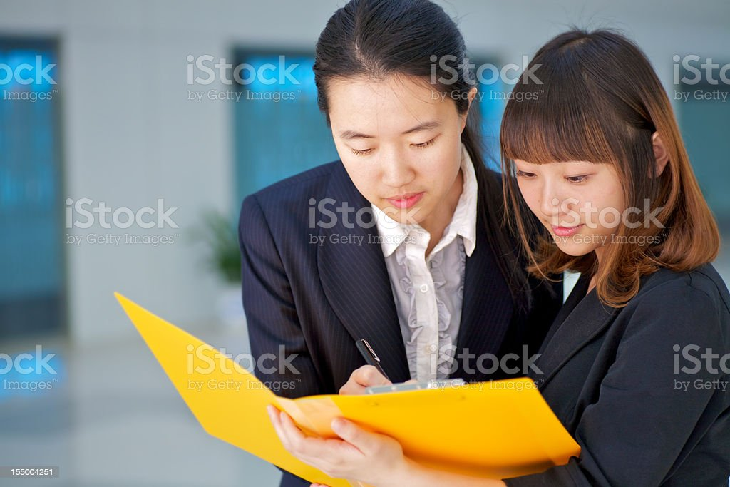 Asian business team royalty-free stock photo