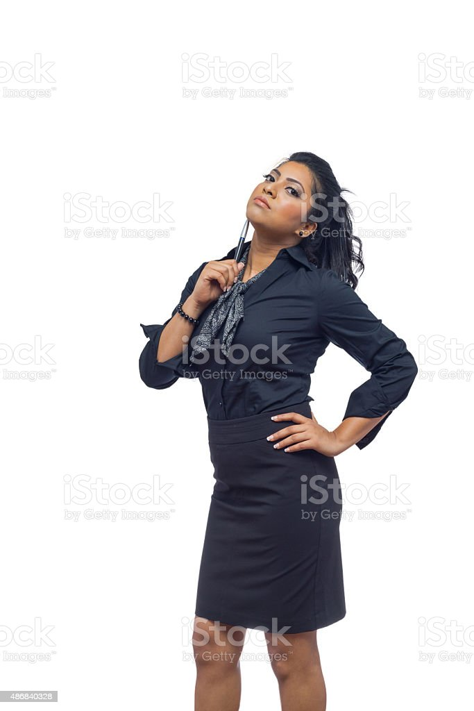 Asian Business Woman Isolated On White Background stock photo