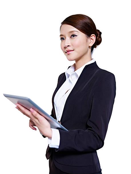 アジアビジネスの女性 - スタジオ 日本人 ストックフォトと画像