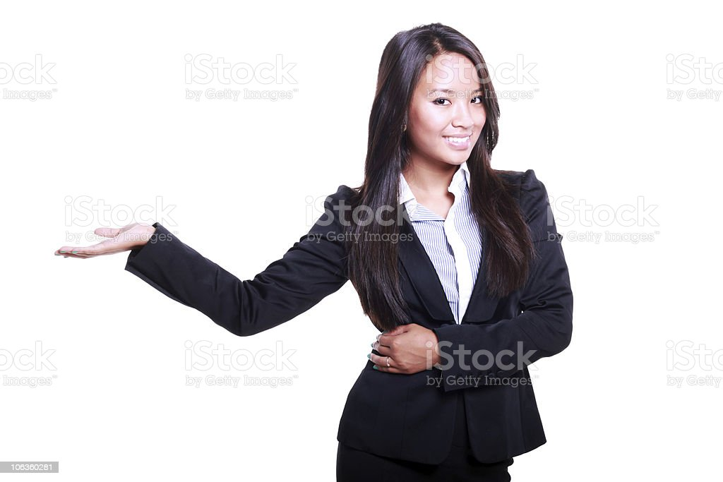asian business woman presenting royalty-free stock photo