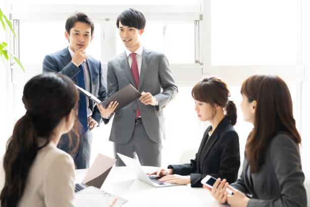 アジア businessgroup 会議 (オフィス) - ビジネスマン 日本人 ストックフォトと画像