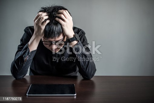 539437954 istock photo Asian Businessman feeling stressed in meeting room 1187750273