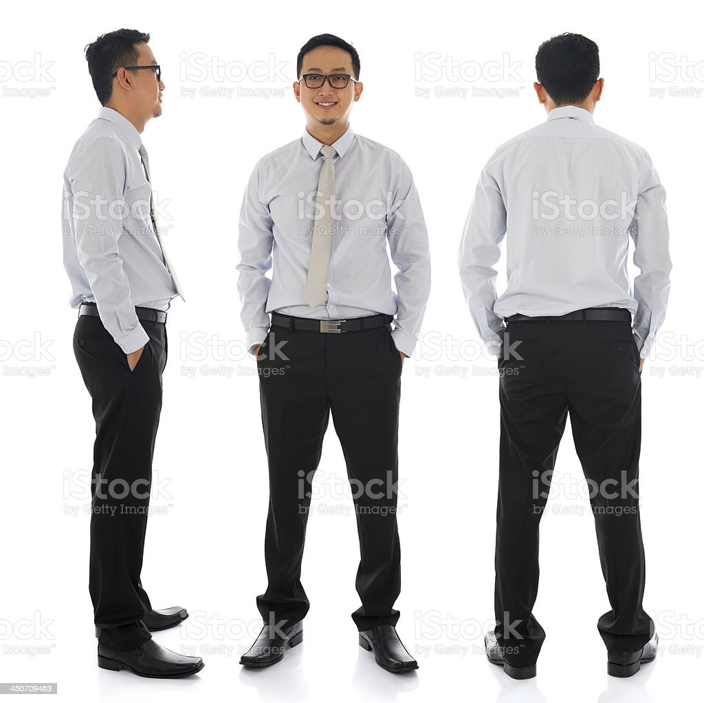 Asian businessman in different angle stock photo