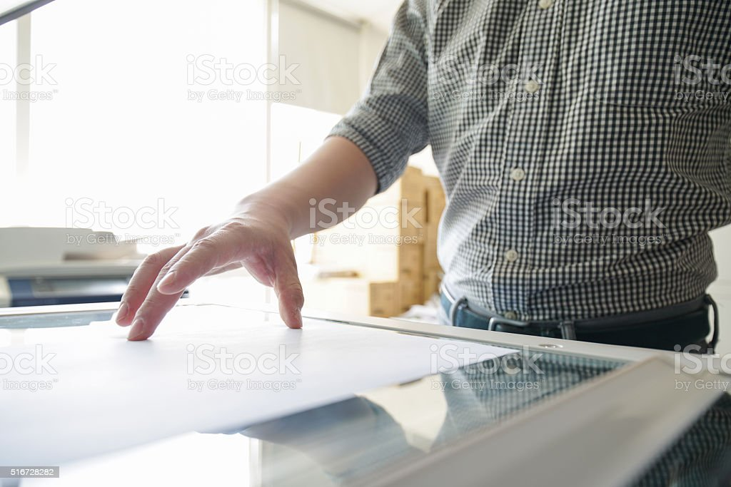 Asian businessman in office-copy file stock photo