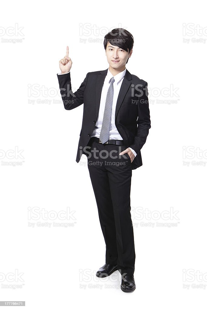 asian businessman standing full length stock photo