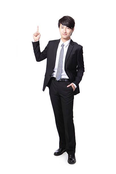 アジアのビジネスマン独立したフルレングス ストックフォト