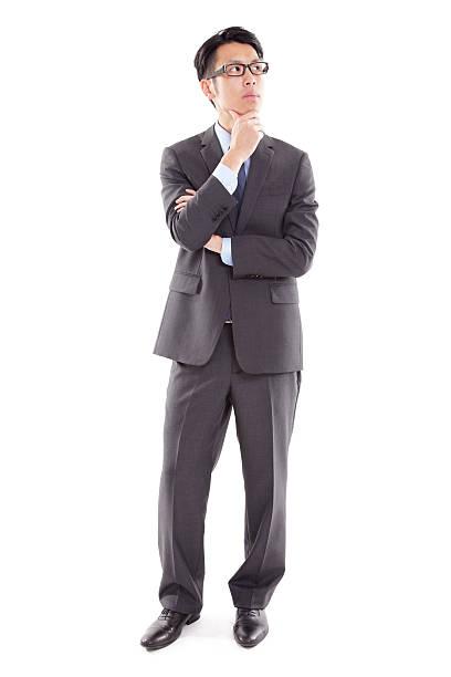 アジア先進的なビジネスマン - 全身 ストックフォトと画像