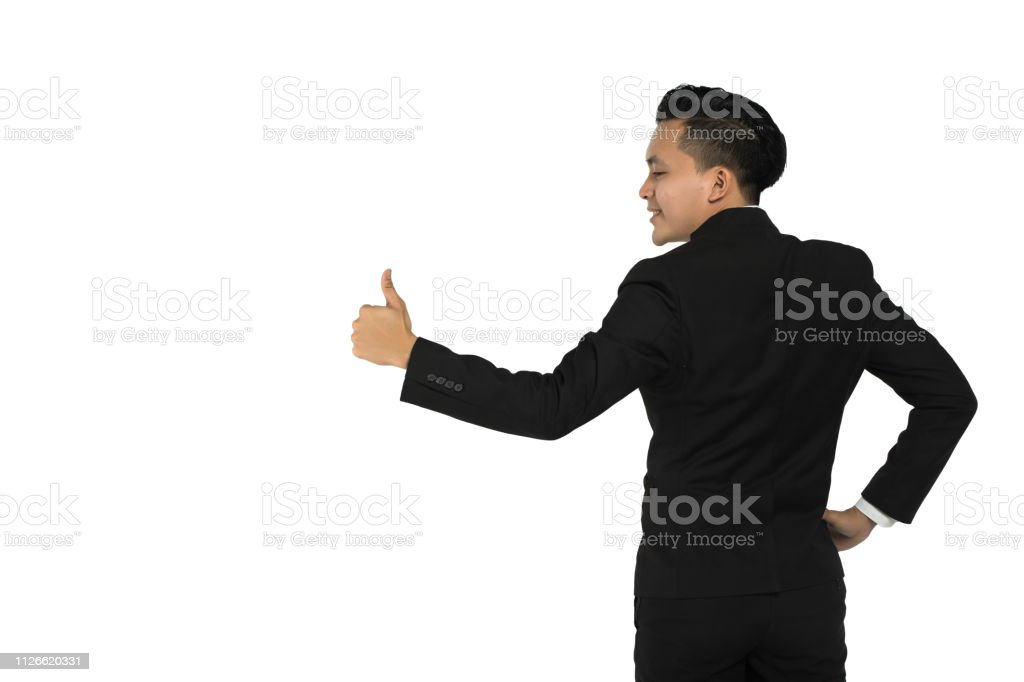 backgorund empresário asiático branco - foto de acervo