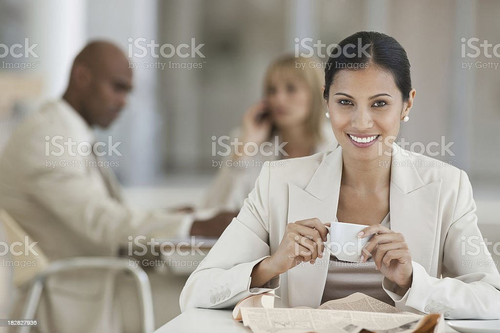 Asian Businesswoman on a Lunch Break royalty-free stock photo
