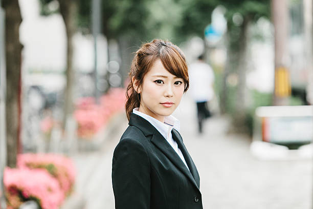 Asian Businesswoman on the Street ストックフォト