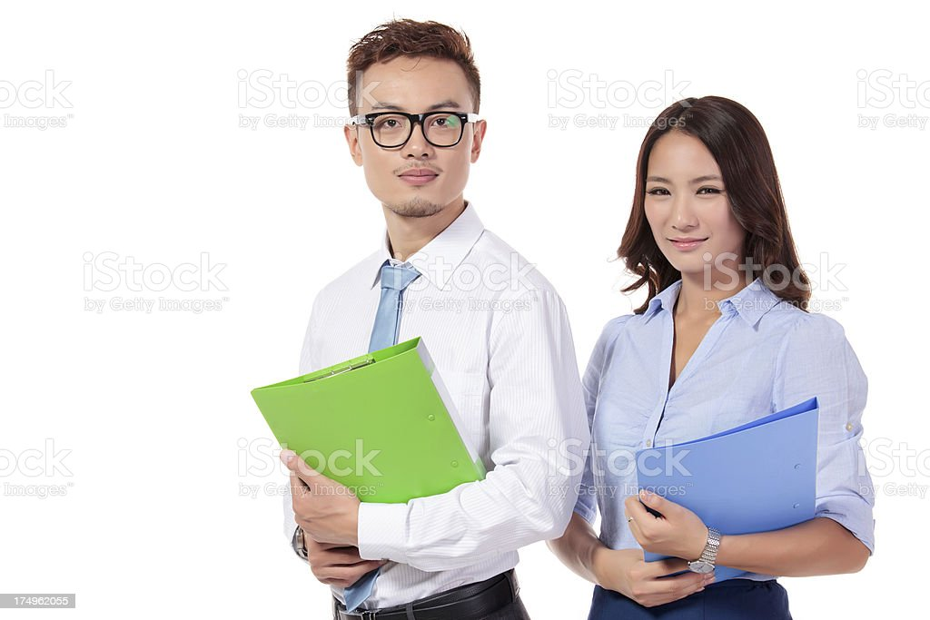 asian businesswomen and businessmen royalty-free stock photo