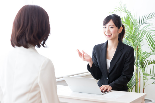 Asian Businesswomen Working In Office Stock Photo - Download Image Now