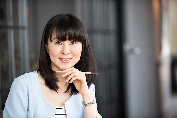 Asian busineswoman retrato - foto de stock