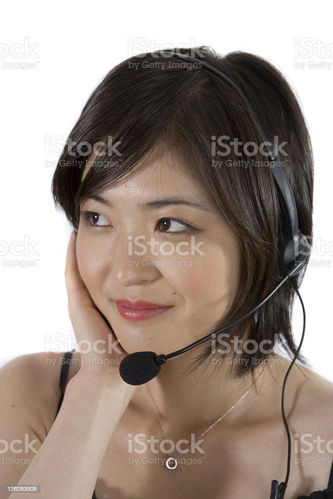 Asian Call Center royalty-free stock photo