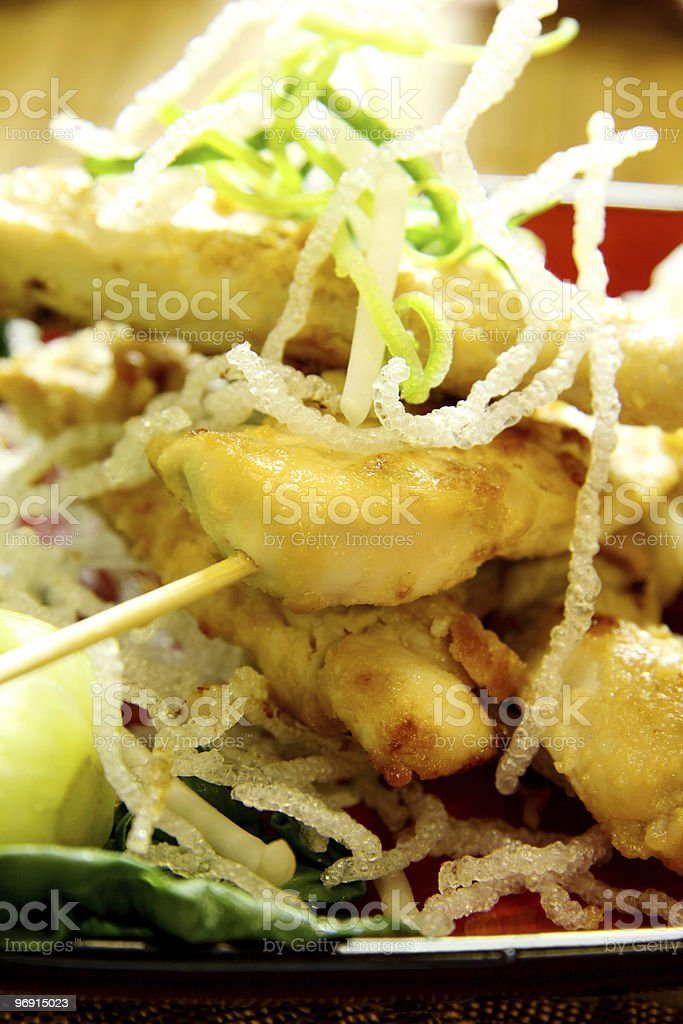 Asian Chicken Skewers royalty-free stock photo