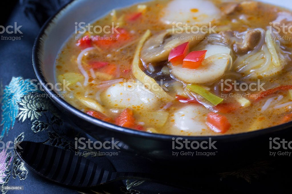 Asian chicken soup stock photo
