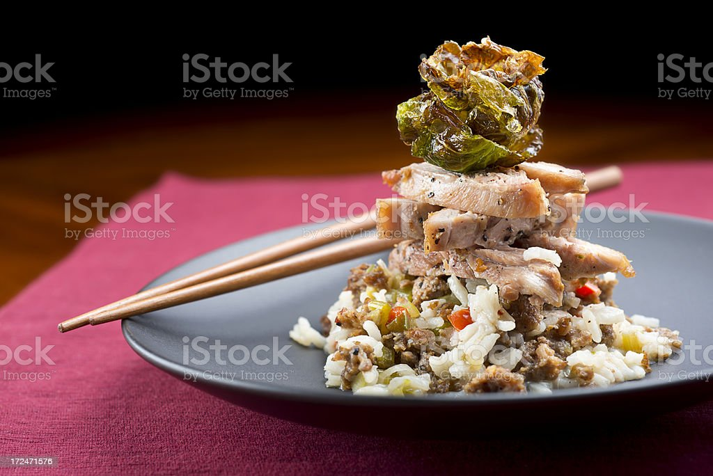 Asian Chicken Tower royalty-free stock photo