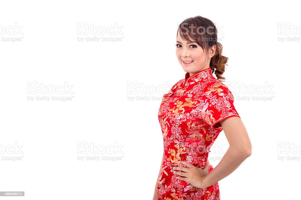 Asian chinese girl greeting in traditional chinese chinese new year asian chinese girl greeting in traditional chinese chinese new year royalty free stock photo m4hsunfo