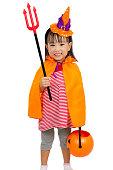 istock Asian Chinese Little girl celebrate Halloween. 486724812