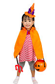 istock Asian Chinese Little girl celebrate Halloween. 486724952