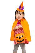 istock Asian Chinese Little girl celebrate Halloween. 486725026