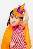 istock Asian Chinese Little girl celebrate Halloween. 486727108