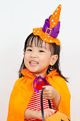 istock Asian Chinese Little girl celebrate Halloween. 486727732