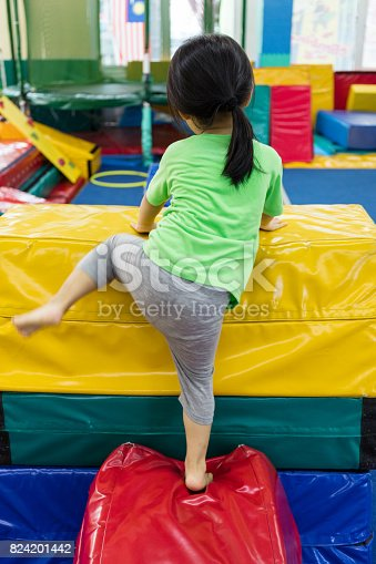 istock Asian Chinese little girl playing indoor 824201442