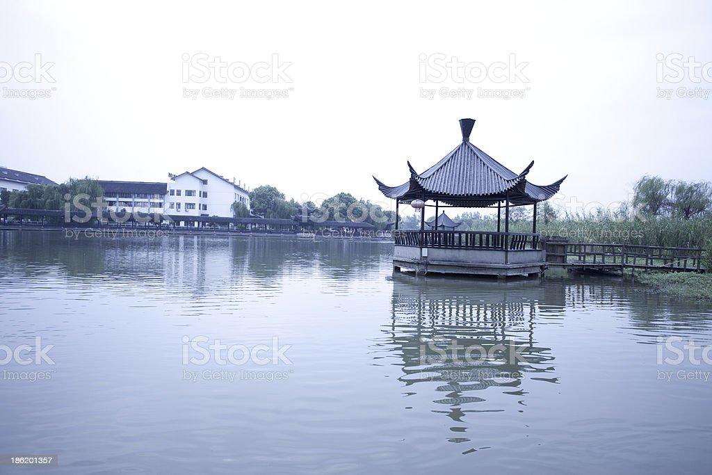 Asian chinese pagoda royalty-free stock photo