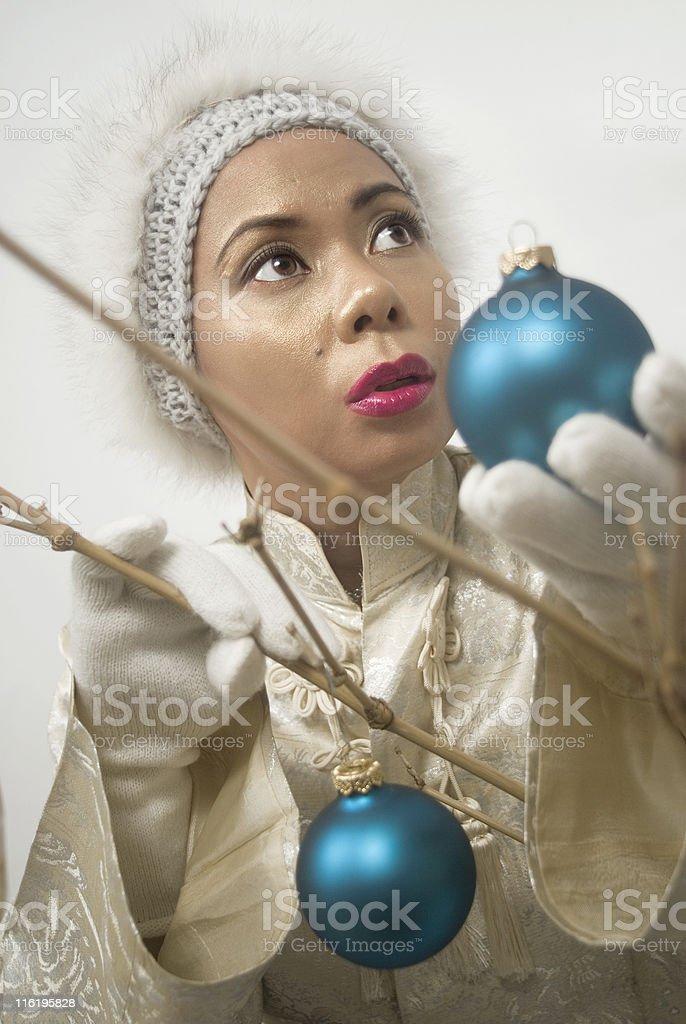 Asian Christmas royalty-free stock photo