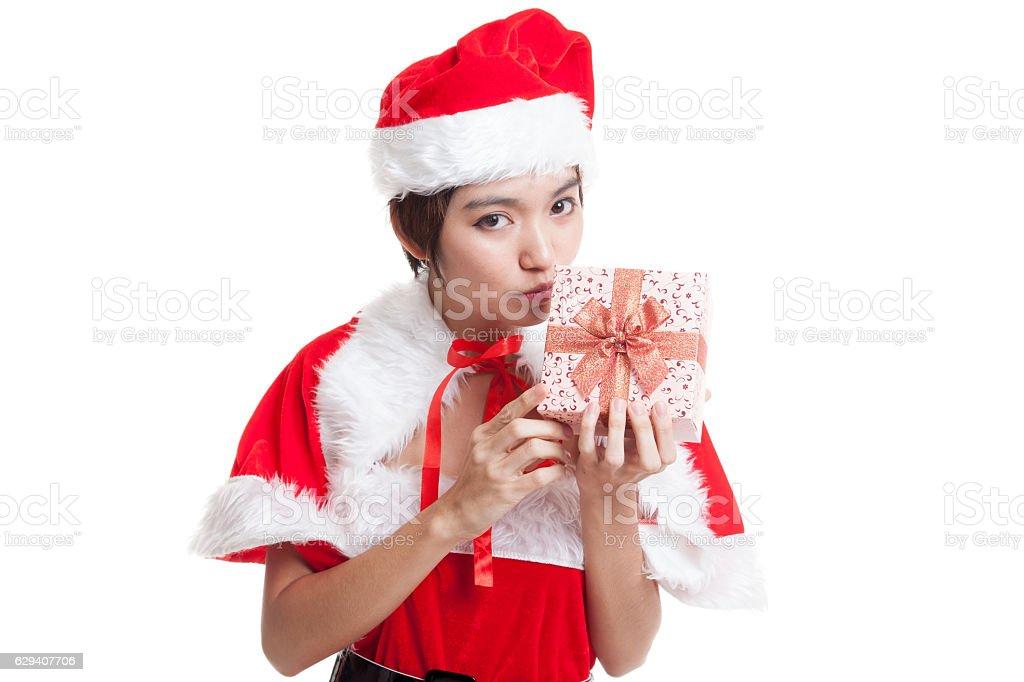 Photo libre de droit de Noël Asiatique Jeune Fille En Costume De