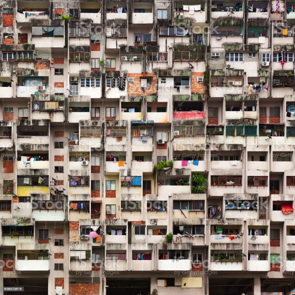 Asian city street background stock photo