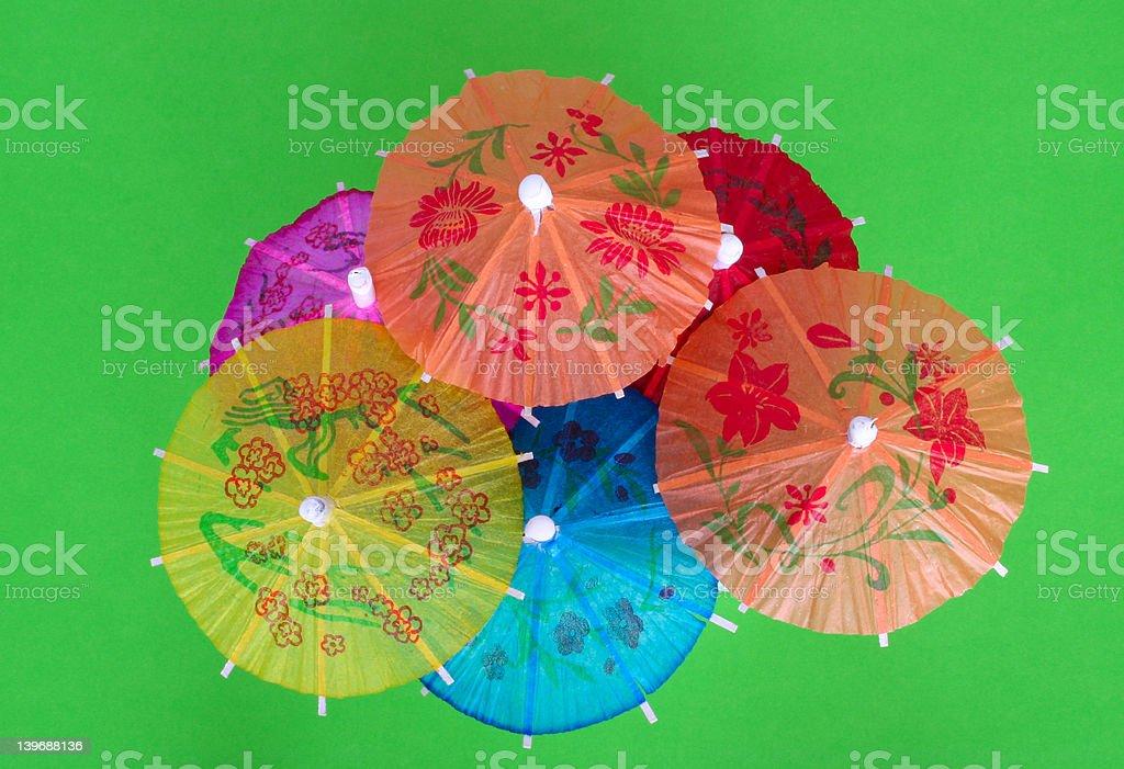 Asian cocktail umbrellas royalty-free stock photo