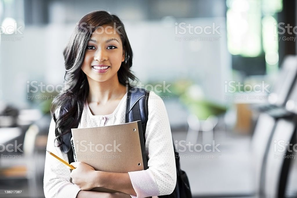 Asian college student royalty-free stock photo