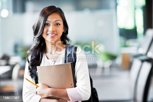 istock Asian college student 138017387