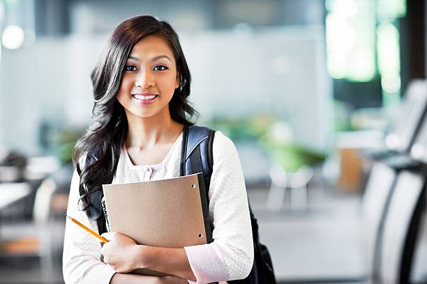 Asian college student stock photo