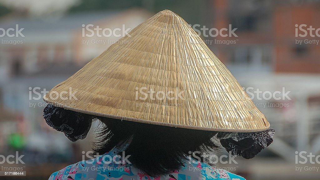 Asian conical hat in Asia stock photo