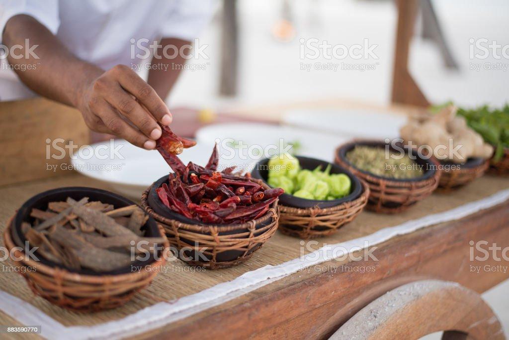 Asian Cooking Class stock photo