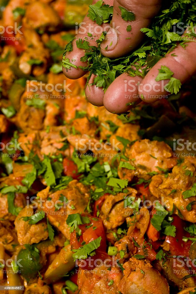 Asian cooking stock photo