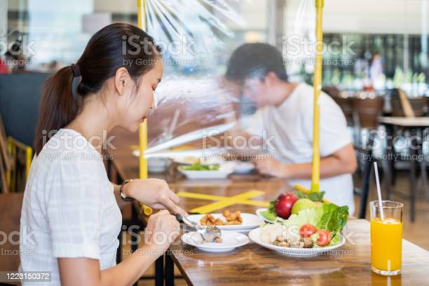 Asian couple man and woman sitting in restaurant eating food with picture id1223150372?b=1&k=6&m=1223150372&s=612x612&h=ohuqb52plygtv1p ggahqlhhtcgjqk3m uu4uirhggm=