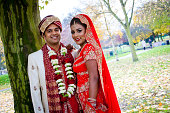 istock Asian couple on their wedding day 456854419