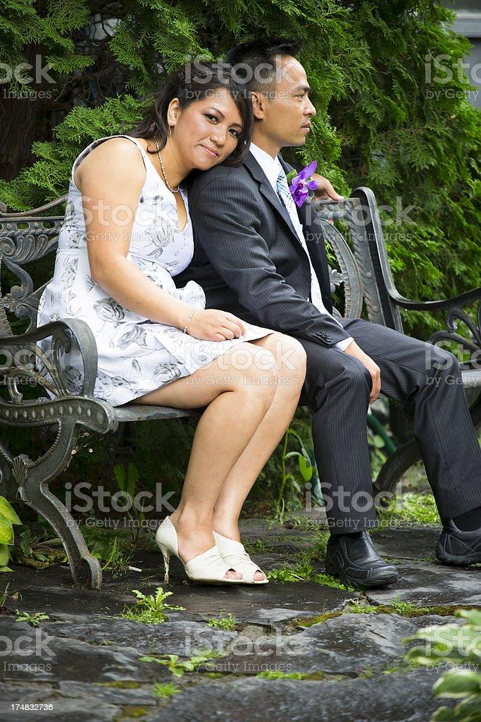 Asian couple portrait royalty-free stock photo